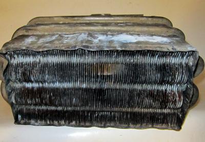 Теплообменник загрязненный