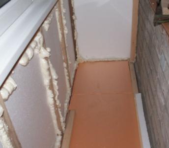 Укладка пеноплекса на бетонные стены
