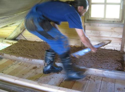 Пол из глины и опилок как сделать видео