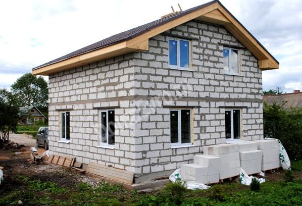 Дом из пеноблоков двухэтажный