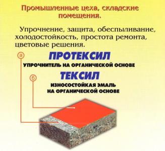Прритка для бетона на полимерной основе