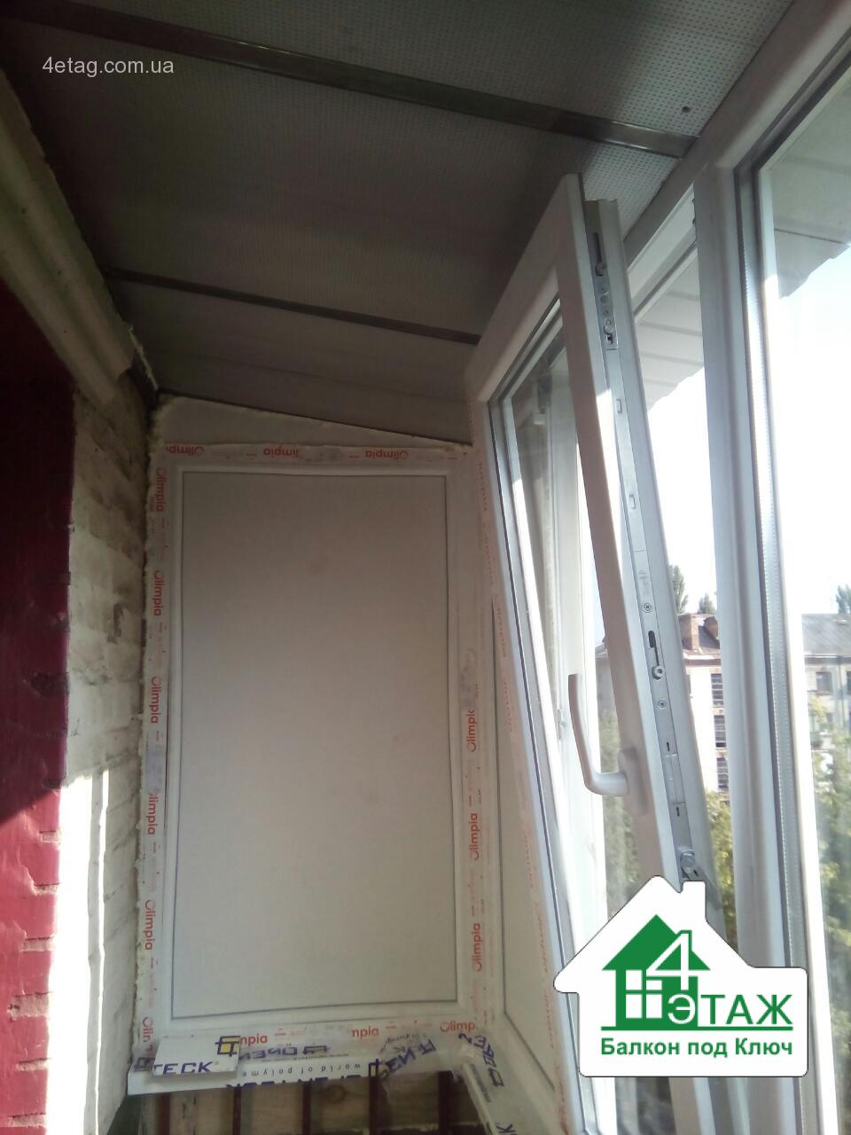 Остекление балкона в хрущевке, укрепление, отделка.